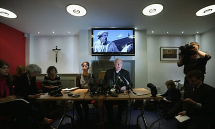 Cardinal Cormac Murphy-O'Connor Holds A News Conference On The Upcoming Papal Conclave