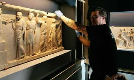 Sculpted marble reliefs for the Life and Death in Pompeii and Herculaneum at the British Museum