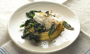 Yotam Ottolenghi: Grilled pollack with cavolo nero and buckwheat polenta