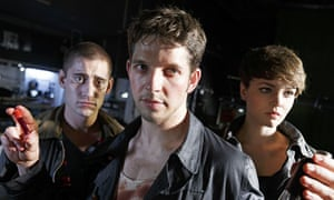 Being Human … Tom (Michael Socha), Hal (Damien Molony) and Alex (Kate Bracken)