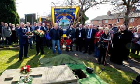 The memorial service at Maltby colliery in South Yorkshire.
