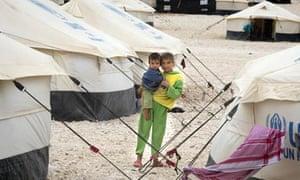 A Syrian refugee camp in Zaatari Jordan