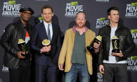 MTV awards The Avengers Samuel L Jackson, Chris Hiddleston, Joss Whedon, Chris Evans