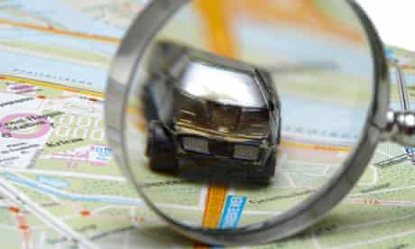 Magnifying glass car
