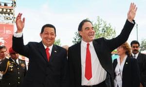 Hugo Chávez and Oliver Stone, 2009