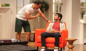 Aasif Mandvi and Omar Maskati in a scene from Ayad Akhtar's play Disgraced, at the Lincoln Center, N