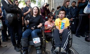 Protesters against Atos's involment in tests for incapacity benefits