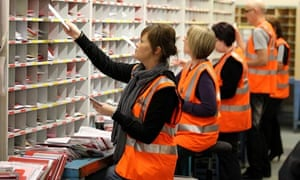 Royal Mail staff at work