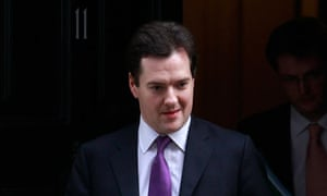Britain's Chancellor of the Exchequer Osborne leaves 11 Downing Street in London