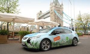 Zipcar near Tower Bridge, London