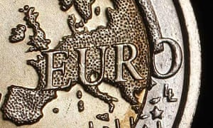 Euro coin map of Europe