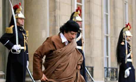 Libya's then leader Muammar Gaddafi