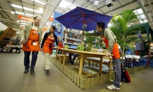 Garden furniture section of B&Q