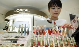 L'oreal beauty consultant at makeup counter
