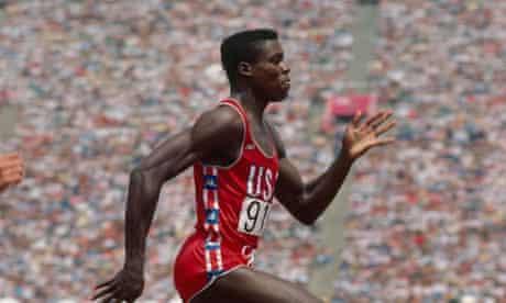 Carl Lewis in 1984 … a successful vegan athlete.