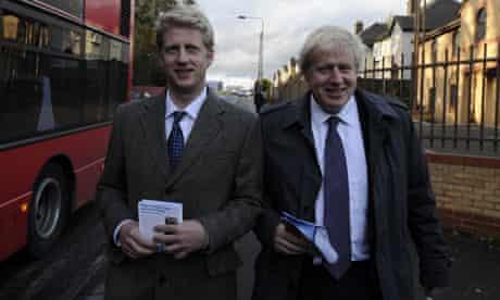 Boris Johnson with his brother Jo Johnson