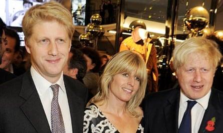 Jo, Rachel and Boris Johnson