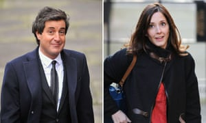 David Sherborne and Carine Patry Hoskins during the Leveson inquiry
