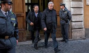 Rev. Franco Decaminada leaves Italian financial police barrack