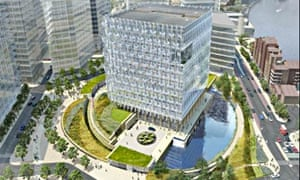 US Embassy on London's South Bank, an artist's impression