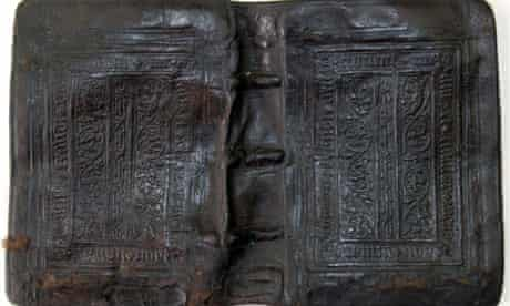 Mary Rose - bookcover salvaged from the Tudor wreck
