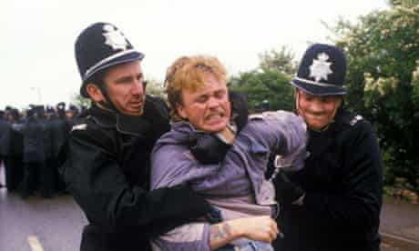 The Orgreave miners' strike in 1984.