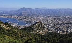 View over Palermo from Monte Pellegrino, Palermo, Sicily, Italy