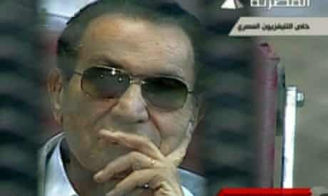 Hosni Mubarak in an image from Egyptian state TV