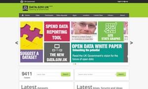 The government website data.gov.uk
