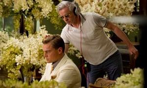 Baz Luhrmann with Leonardo DiCaprio