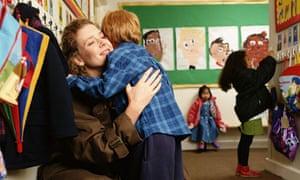 Child hugs mother