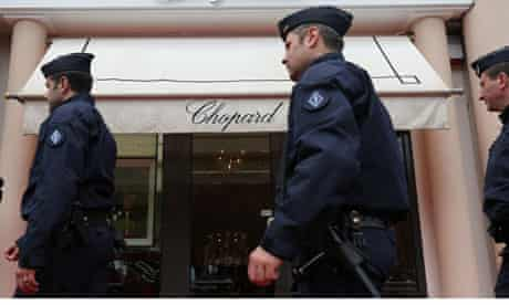 Anti-riot police officers in Cannes