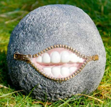 Laughing stone garden Ornament, £8.99