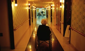 Elderly woman in care home