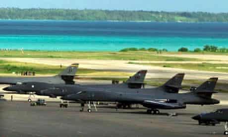 US warplanes in Diego Garcia