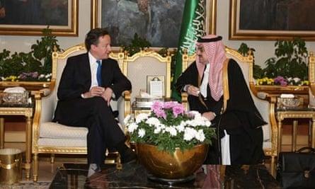 David Cameron in meeting with Prince Mohammed bin Nawaf,