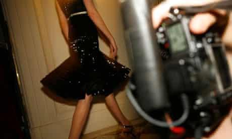 Back stage during the Giambattista Valli spring-summer Haute Couture show, Paris Fashion Week