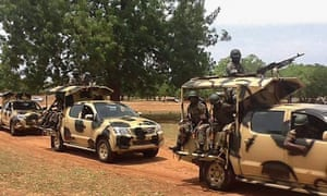 Nigerian soldiers arrive in Yola