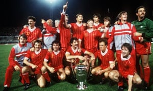 18efd3264b9 Liverpool celebrate after beating Roma on penalties in their own backyard  in 1984 – the Reds fourth European Cup. Photograph  Allsport Uk Allsport