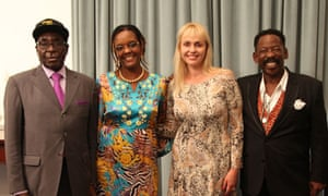 Robert and Grace Mugabe with Dali and Rachel Tambo