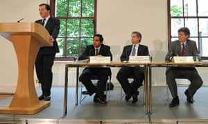 George Osborne speaks during a press conference at the conclusion of the IMF in central London on 22