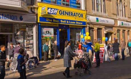 A Cash Generator store with instant cheque cashing in Lowestoft, Suffolk.