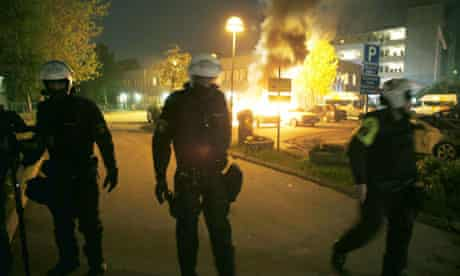 Riots in Stockholm, Sweden - 22 May 2013