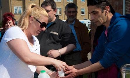 York mosque - tea protest
