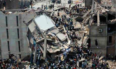 Garment workers were trapped under rubble at the Rana Plaza building near Dhaka