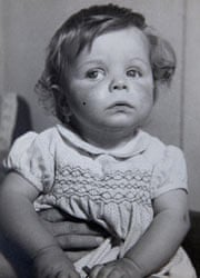 Peter White as a baby.