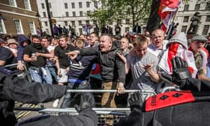 English Defence League protesting