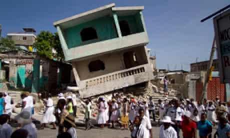 Aftermath of Haiti earthquake
