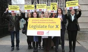 Pro-choice protestors in Dublin