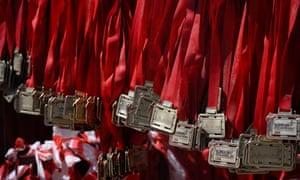 London Marathon finishers' medals